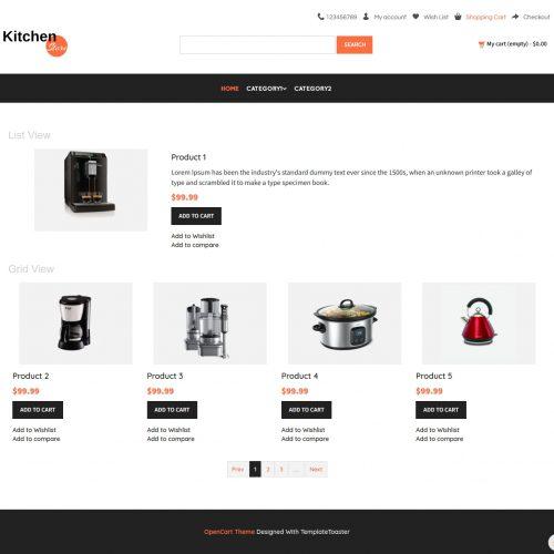 Kitchen Store Opencart Theme