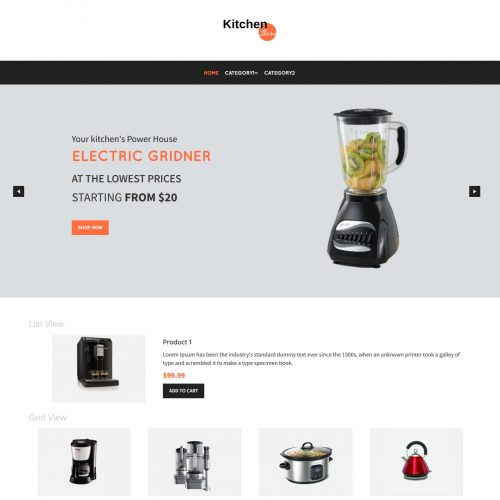 Kitchen Store Virtuemart Template