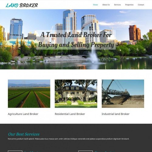 land broker real estate agency blogger template