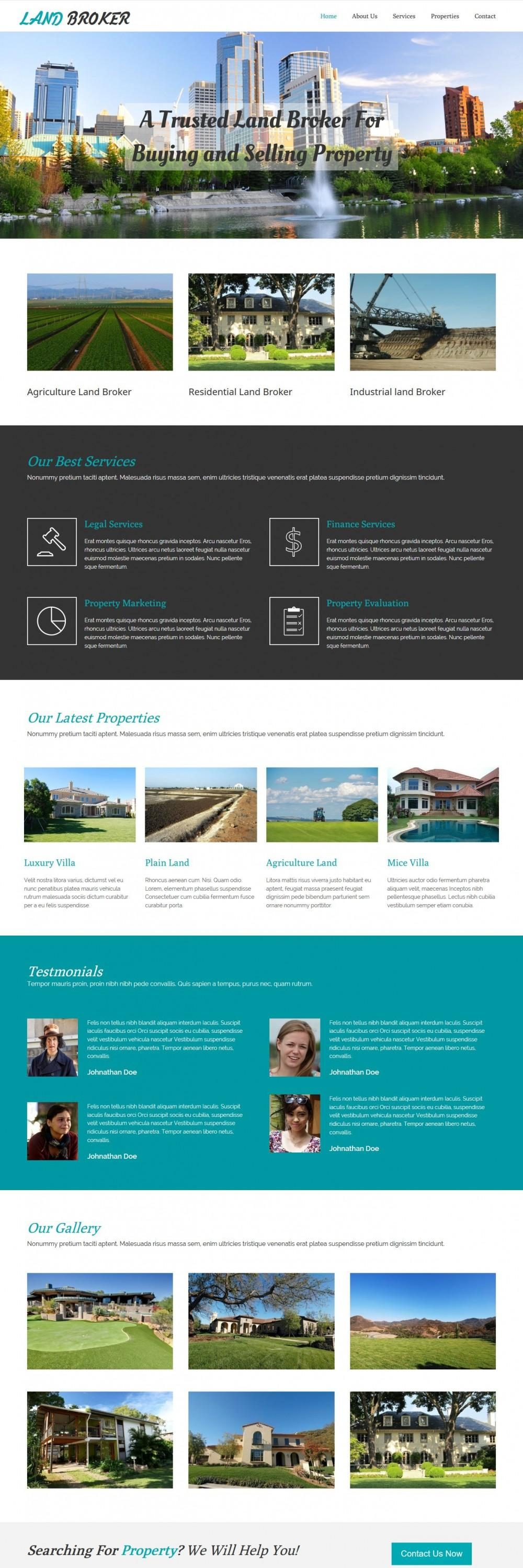 land broker real estate agency html template