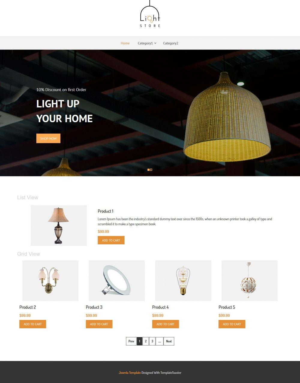 light store virtuemart template