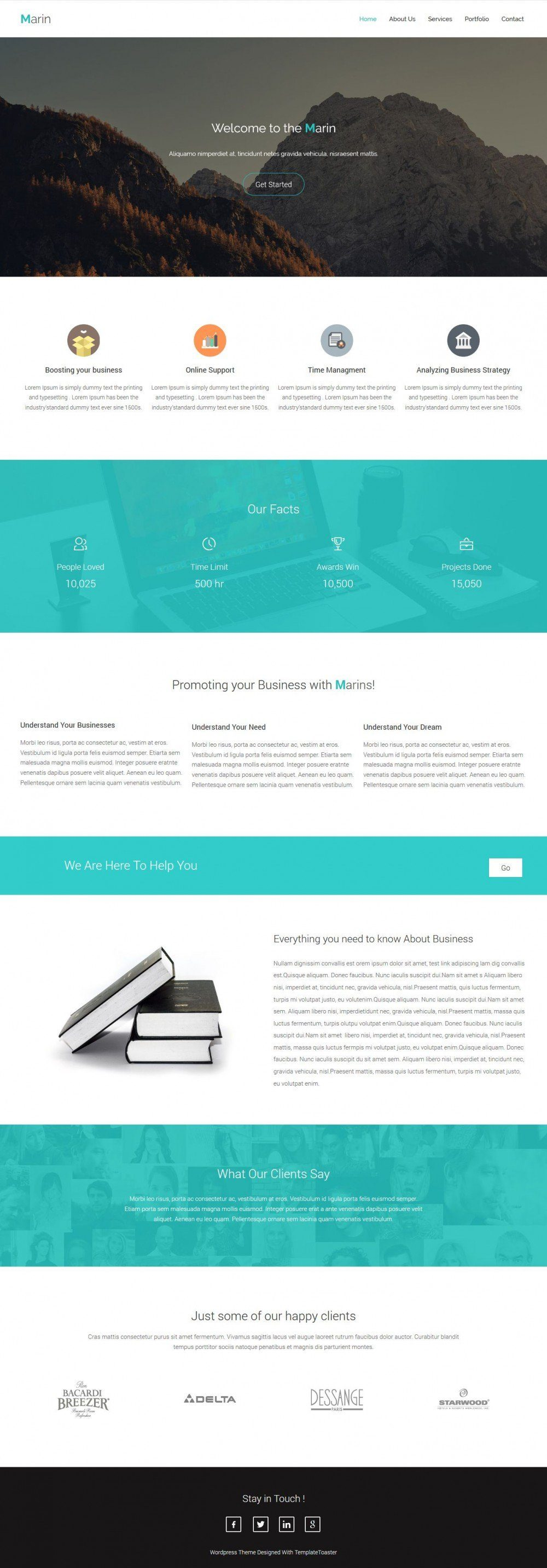 marin business promoting blogger template