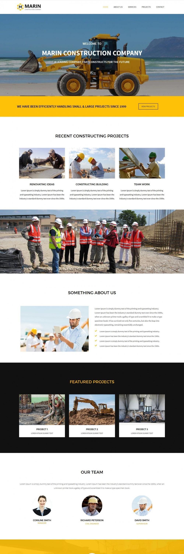 marin construction company blogger template