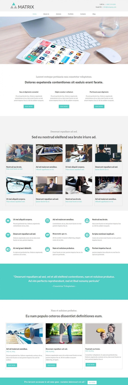 matrix web design studio company blogger template
