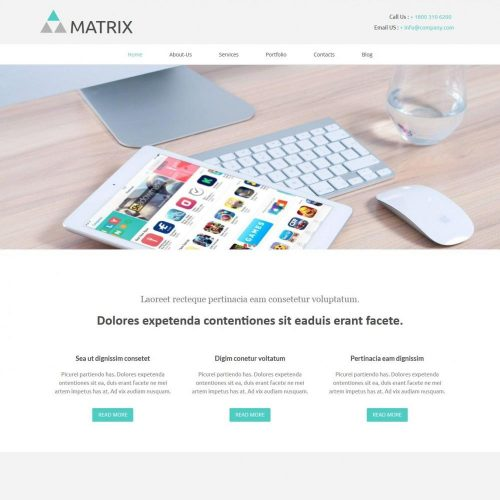 matrix web design studio company html template