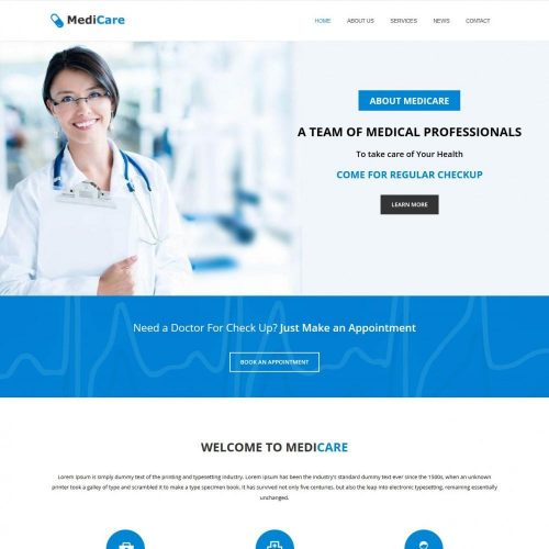medicare health care blogger template