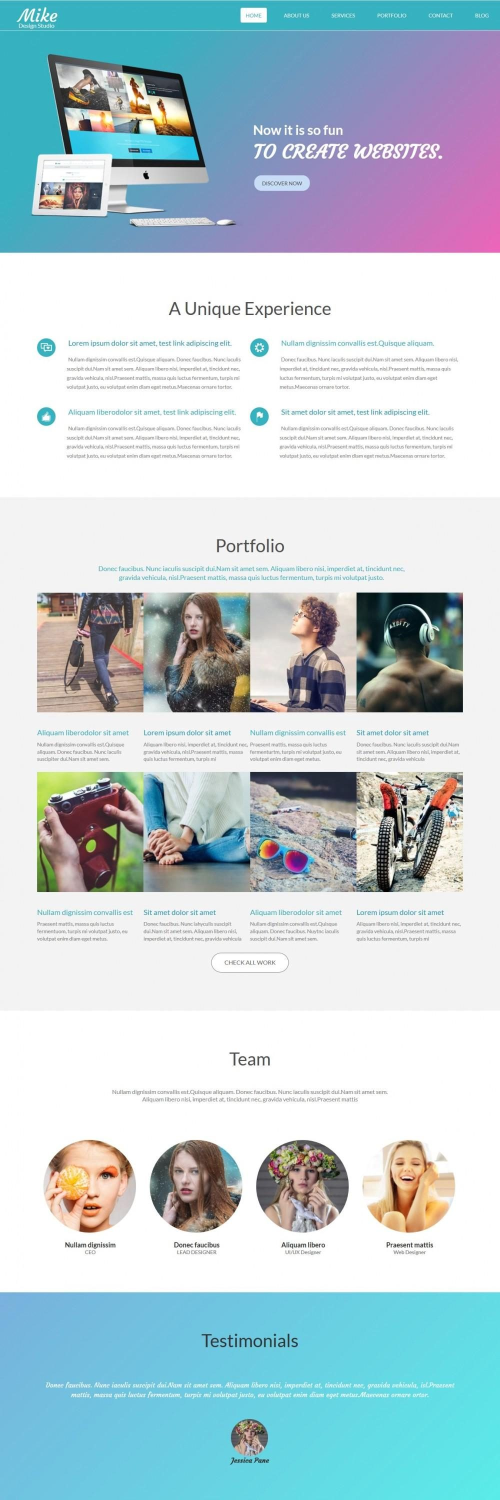 mike web design studio blogger template