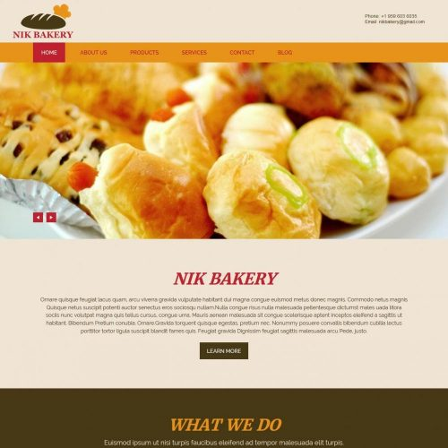 nik bakery cake blogger template