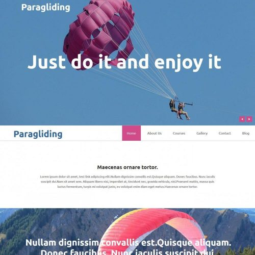 paragliding academy blogger template