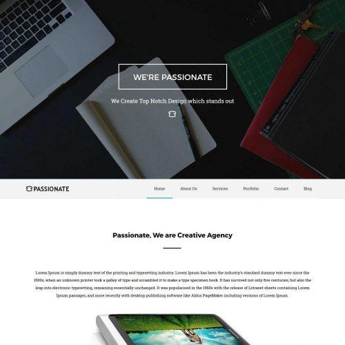 Passionate Web App Design Studio HTML Template