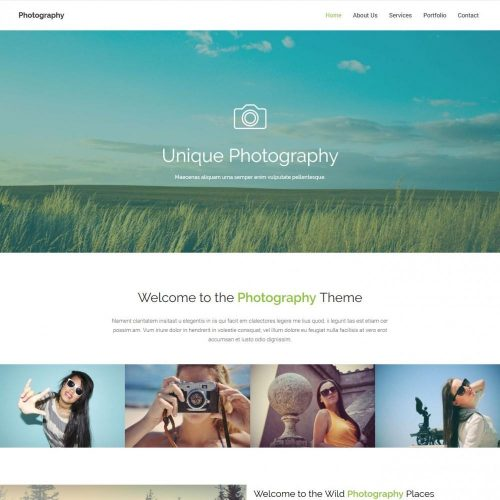 photography studio blogger template