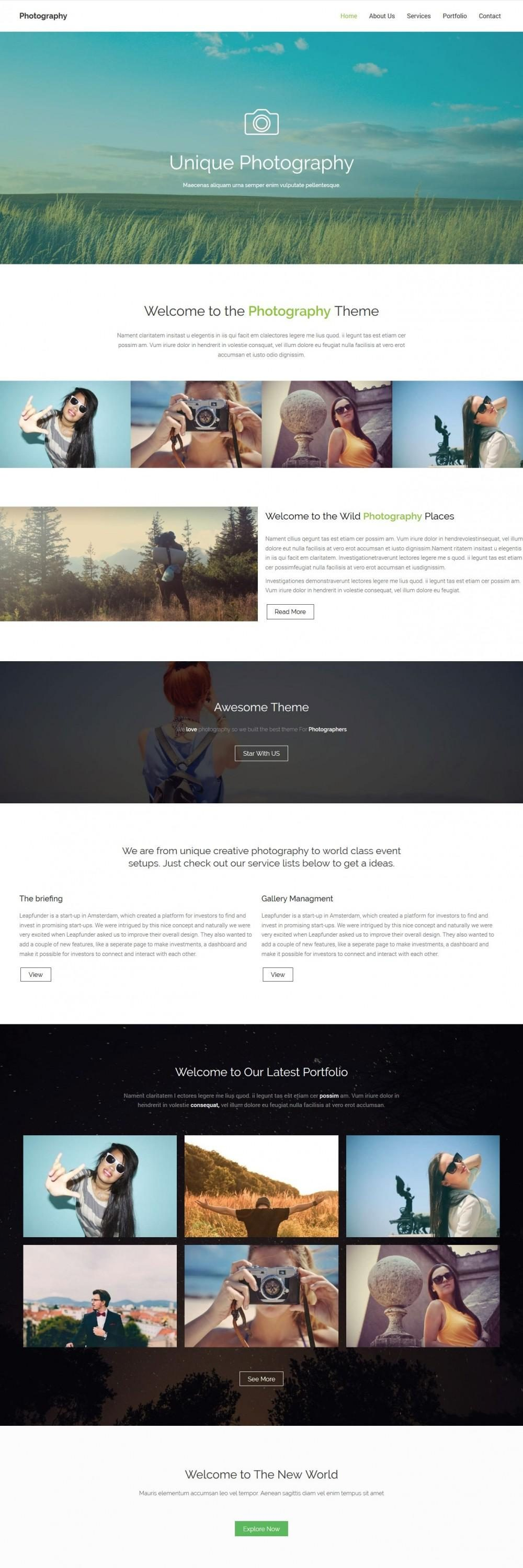 photography studio html template