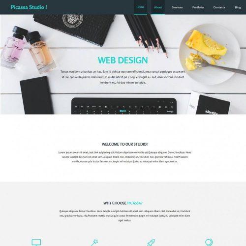 picassa web design agency blogger template