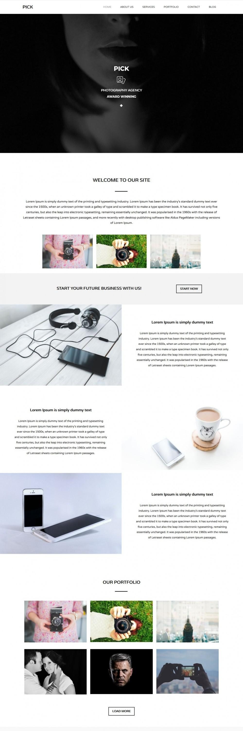 Pick Photography Blogger Template