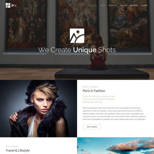 pix photography studio blogger template