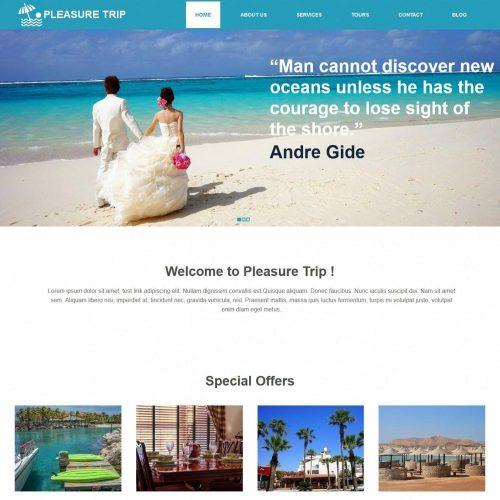 pleasure trip travel agency html template