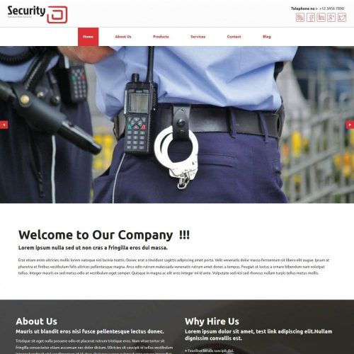 professional security company blogger template