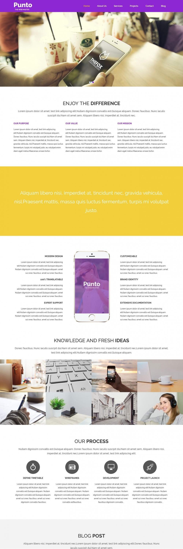Punto Web App Development HTML Template
