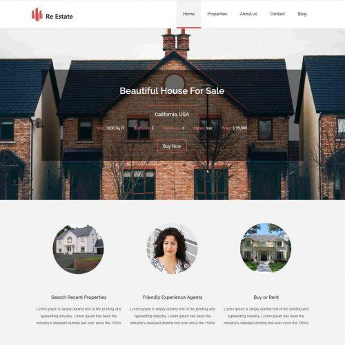 re-estate real estate blogger template