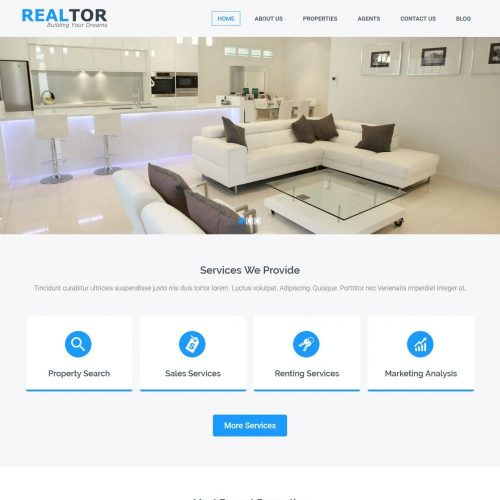 realtor real estate blogger template