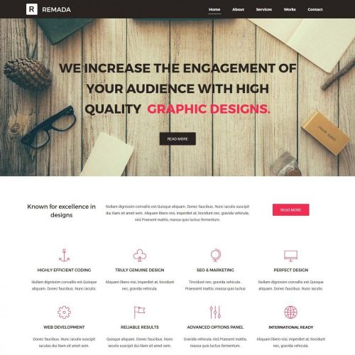 remada graphic and web design agency blogger template
