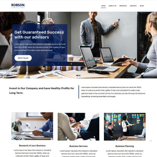 robson consulting business blogger template