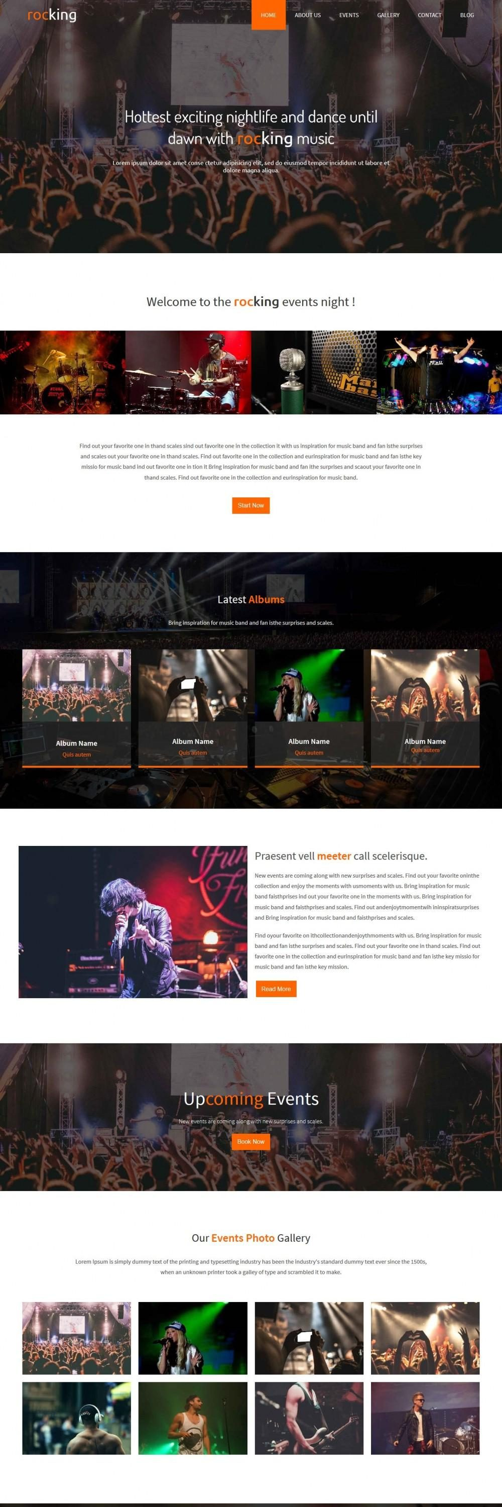rocking event night club blogger template