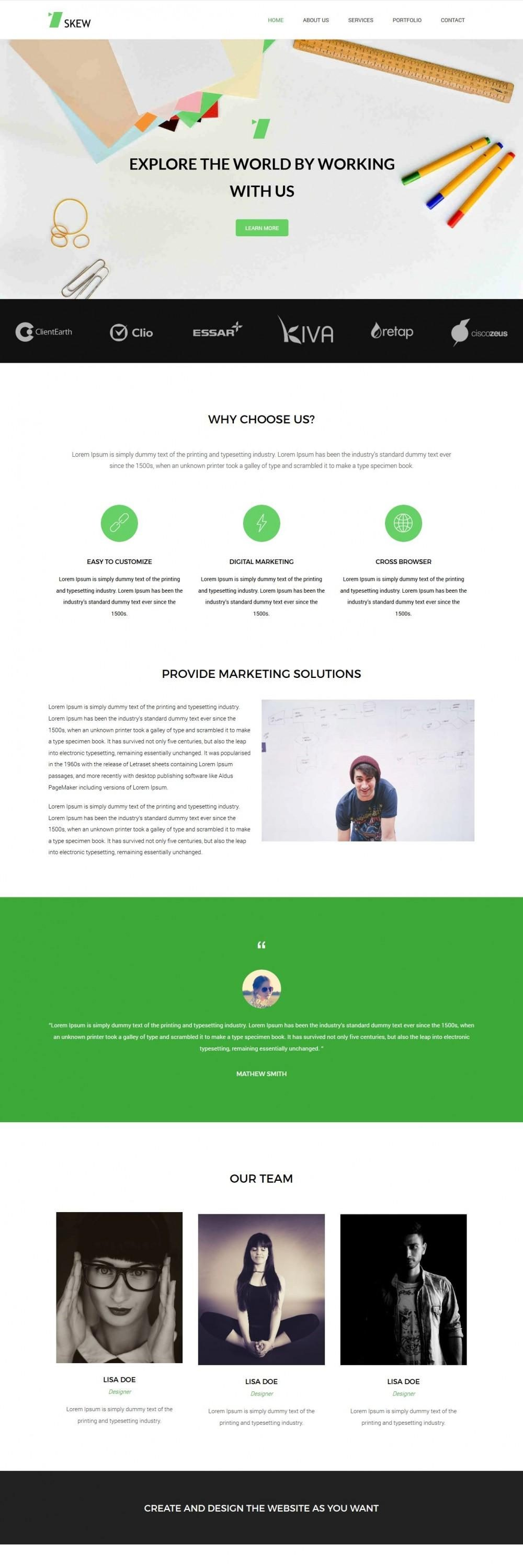 skew web design agency blogger template