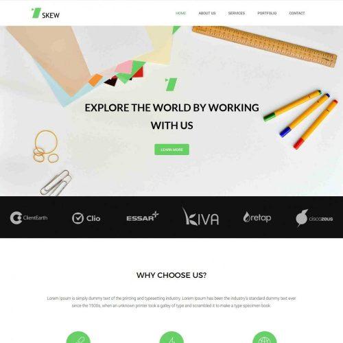 skew web design agency blogger template
