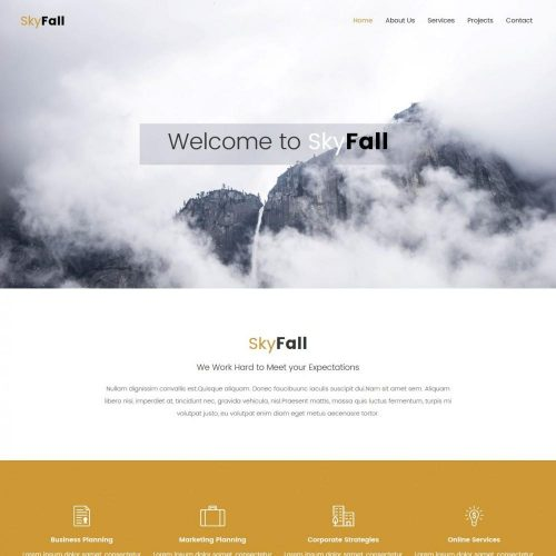skyfall business strategy agency blogger template