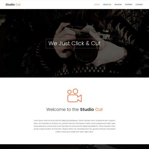 studio cut photography blogger template