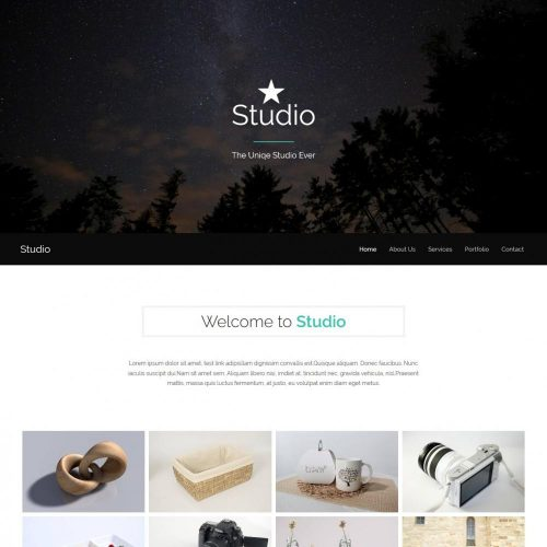 studio photography blogger template