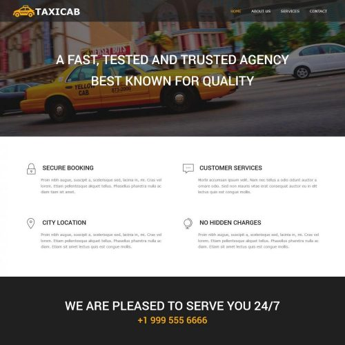 taxi cab company blogger template