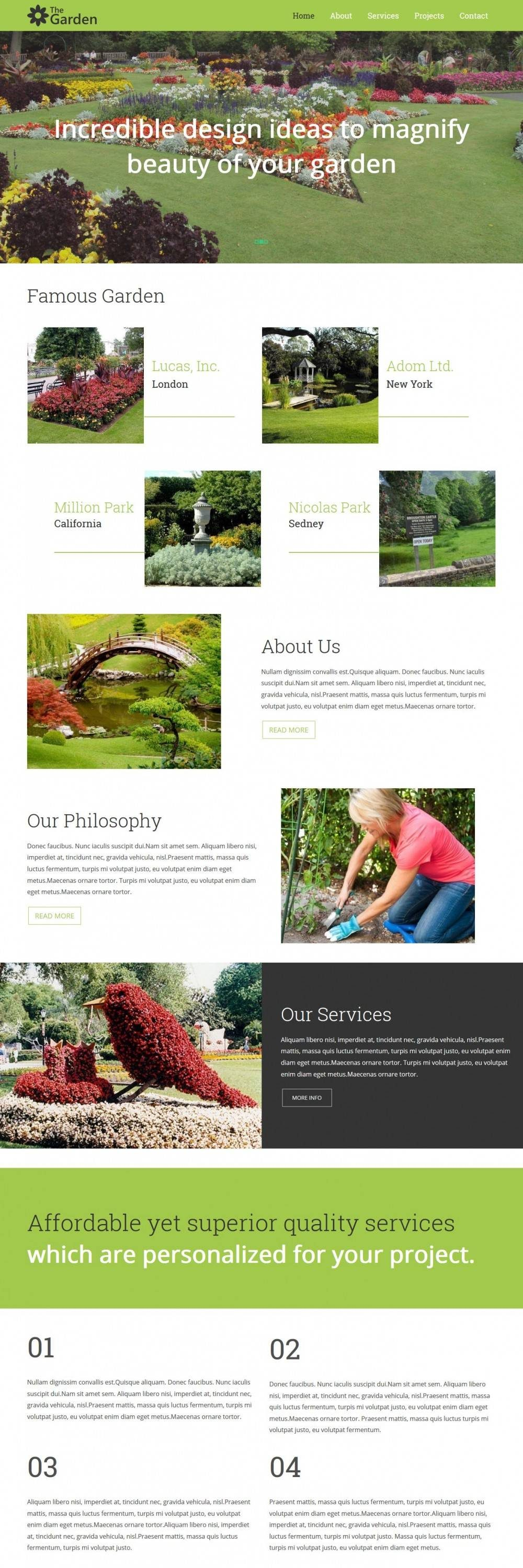 the garden services business blogger template
