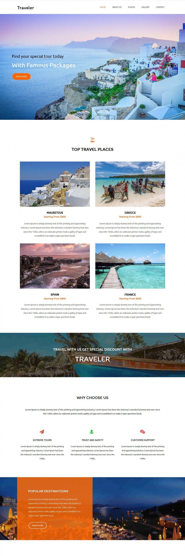 traveler travel agency blogger template
