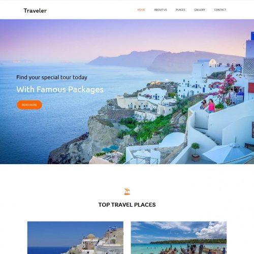 traveler travel agency blogger template