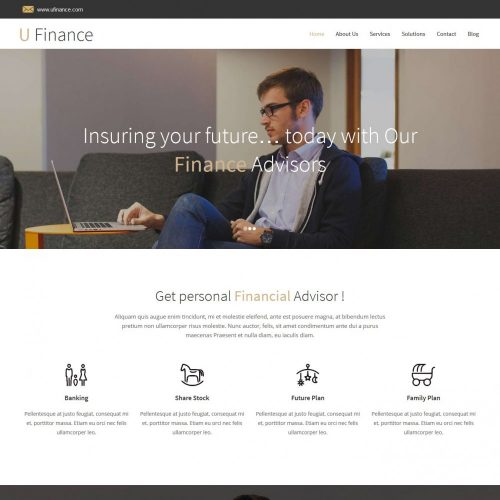 u finance business portfolio blogger template