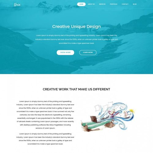 Unix Web Design Agency Blogger Template