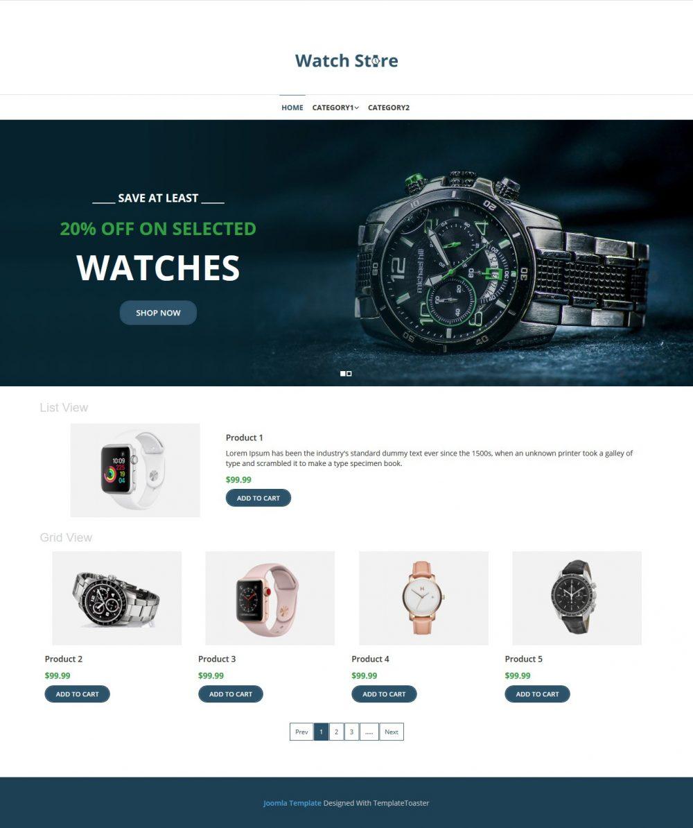 Watch Store Virtuemart Template