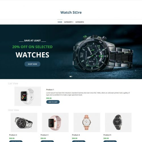 Watch Store Virtuemart Template