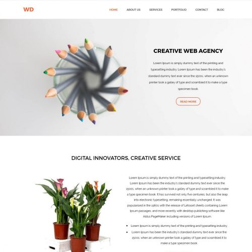 Wd Web Agencies Blogger Template