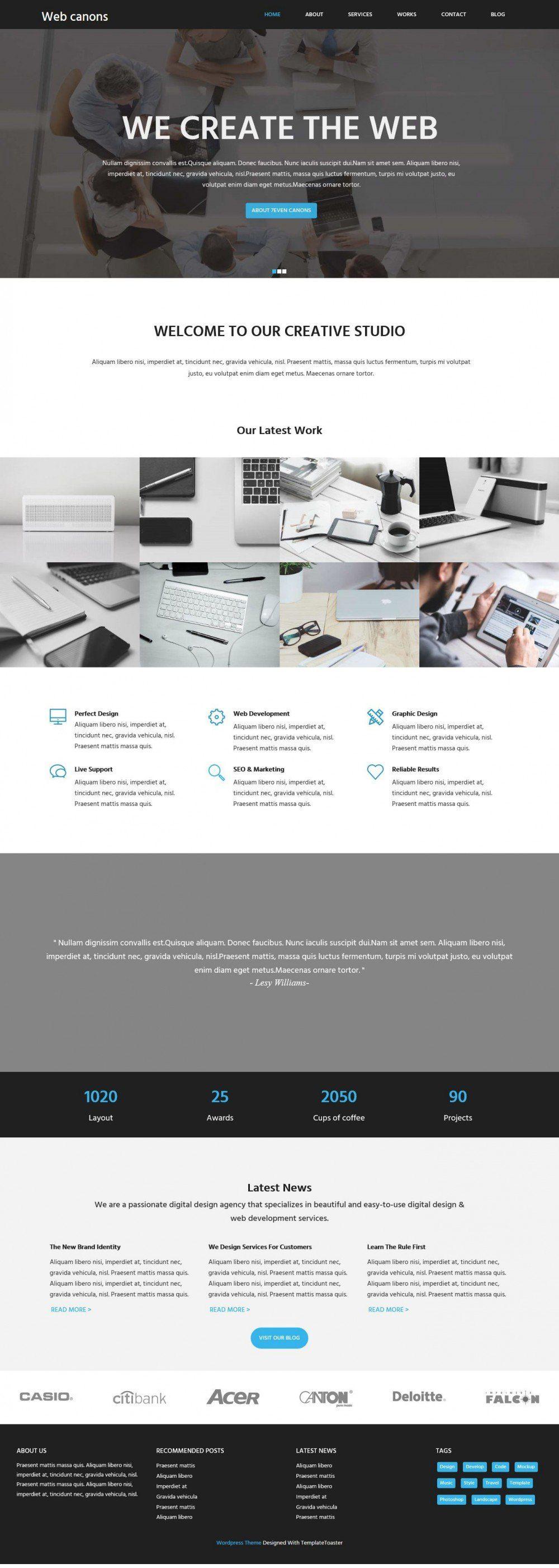 Web Canons Corporate Web Agency Studio Blogger Template