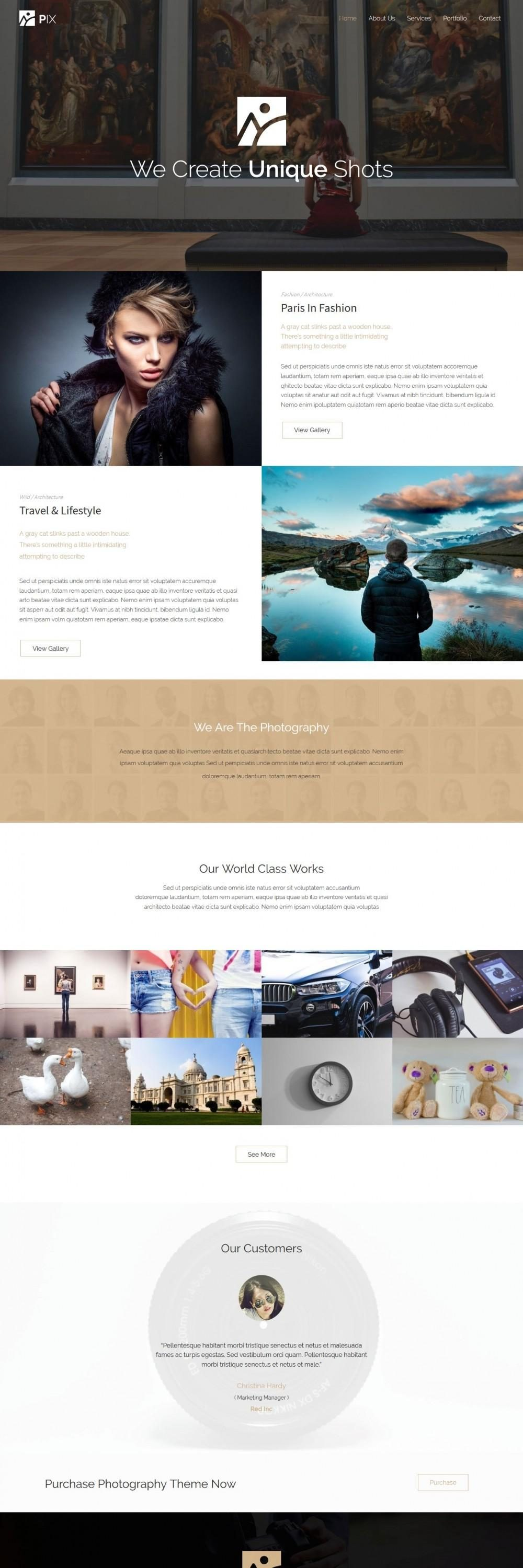Pix – Photography Studio Drupal Theme