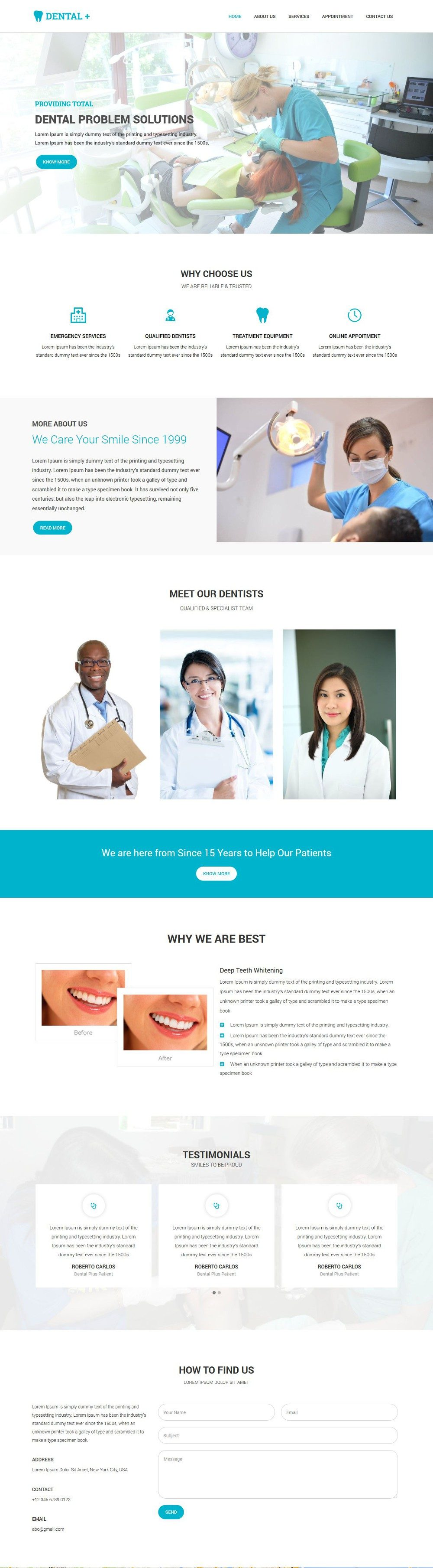 Dentist Clinic WordPress Theme