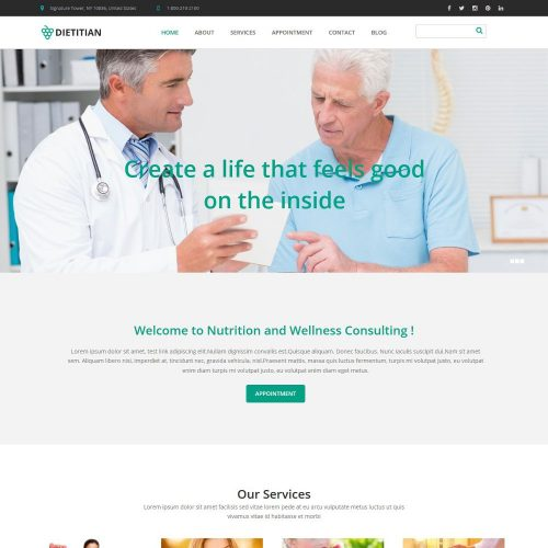 Health and Nutrition WordPress Theme