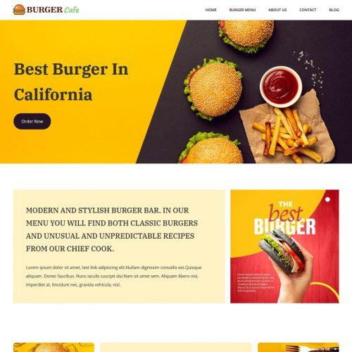 Burger Cafe restaurant wordpress theme