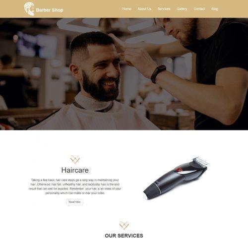 Unique Hair salon And Barber Shop WordPress Theme