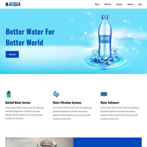 acqua water purifier joomla template
