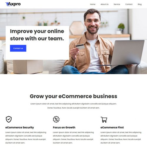 axpro ecommerce business consulting agency joomla template