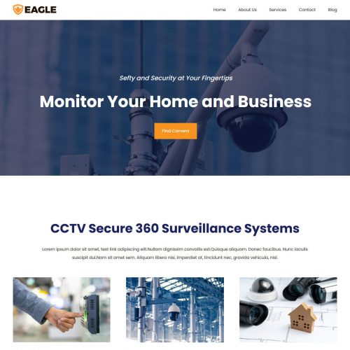 eagle cctv home security html template